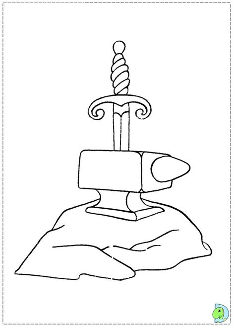 the sword in the stone coloring page dinokids org