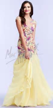 Floral Prom Dresses Floral Embroidered Prom Dresses By Mac Duggal