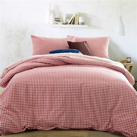 M S Duvet Sets Home Textile 100 High Quality Cotton Knitting Gingham