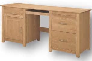 home office ash double computer desk with filing cabinet