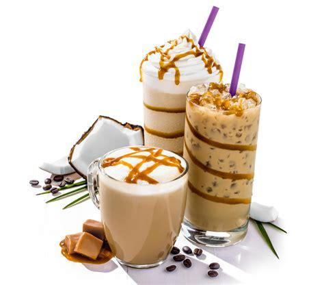 caramel coconut latte iced latte blended 174 drink