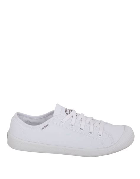 palladium cotton canvas sneakers in white lyst