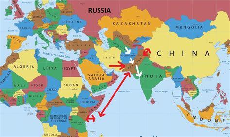 map usa to india india pakistan china map