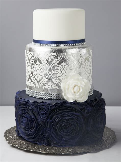Wedding Cake Blue by Midnight Blue Wedding Cake Cakes