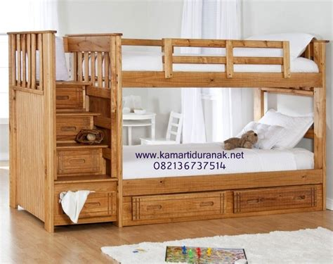 Ranjang Kayu Susun harga ranjang susun minimalis kayu jati murah tempat