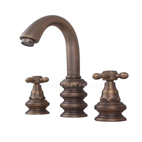 antique bronze bathroom faucet top antique bronze three wide spread bathroom faucets