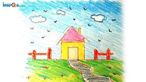 draw house landscape school stuff writing easy