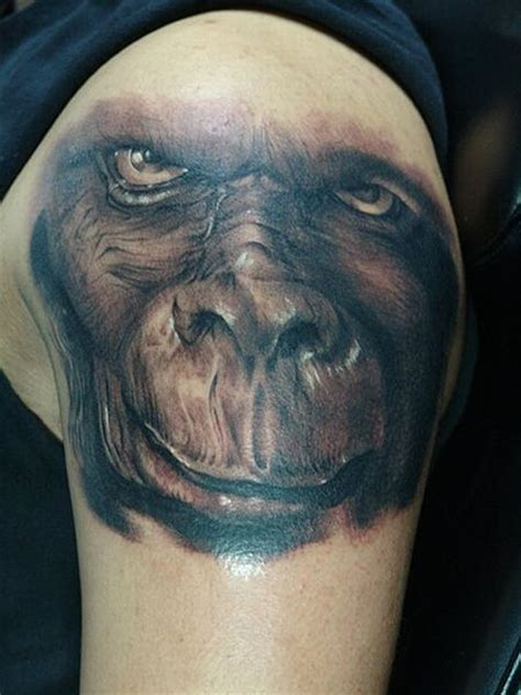gorilla tattoos monkey tattoos curious photos pictures