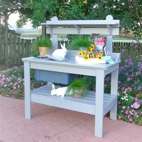 cypress potting bench multi use outdoor table bench