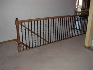 Rot Iron Banister Wrought Iron Stair Railing Simple Iron Stair Railings San