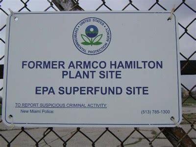 armco incorporation hamilton plant super fund sites on