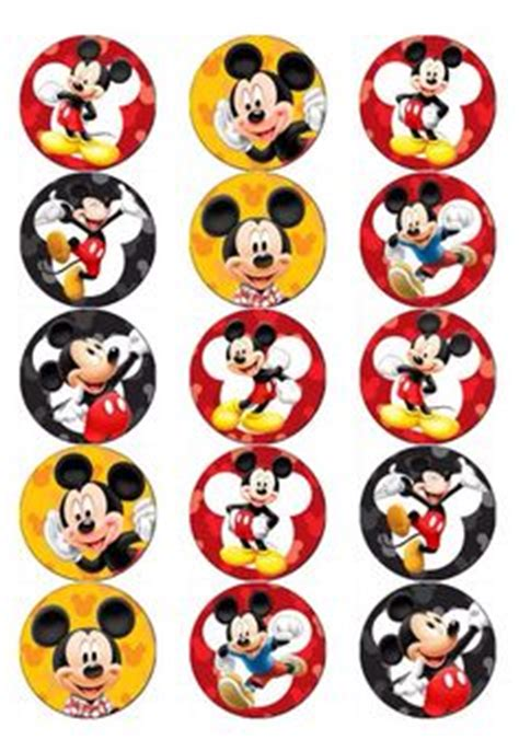 Dc Micky Kaos Mickey Mouse 2 5 quot mickey mouse cupcake edible icing toppers 1 mice