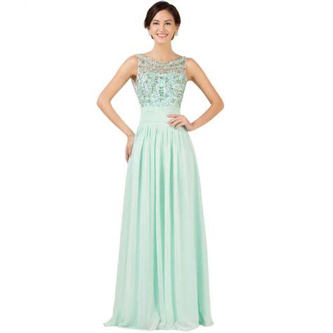 light green long dress light green backless sleeveless bead chiffon long formal