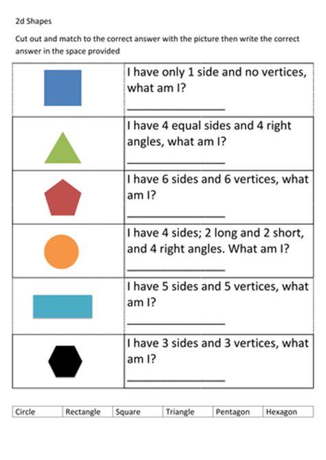 shapes worksheet ks1 ks1 2d shapes worksheet by thespannerman teaching
