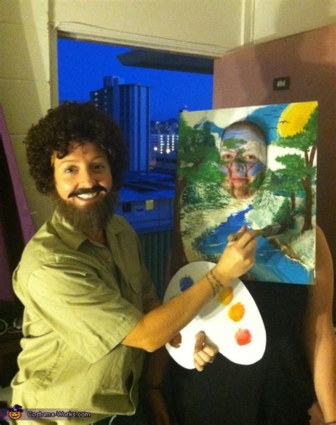 bob ross   painting halloween costume