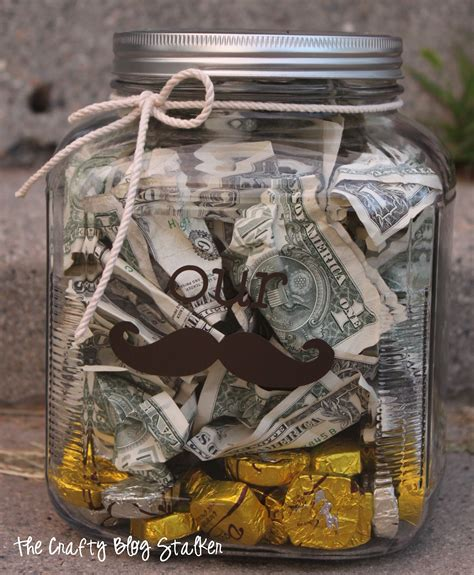 wedding money gift money quot stache quot jar wedding gift the crafty blog stalker
