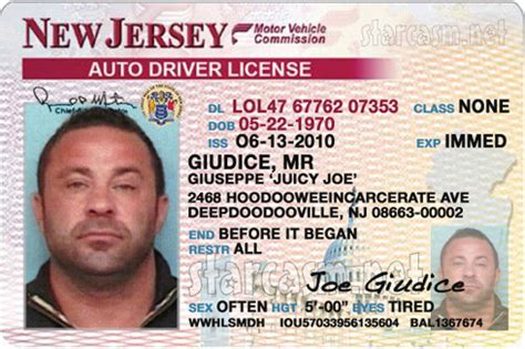 new jersey id card template joe giudice trial date set for driver s license forgery