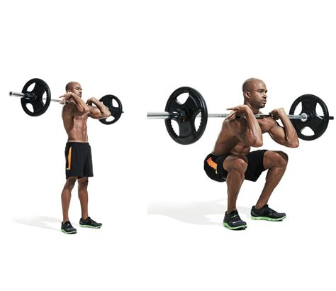 Barbell Fitness front barbell squat benefits and grips to perform the front squat