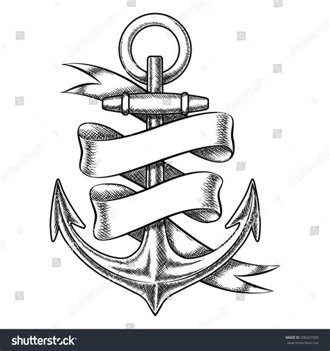 tattoo machine with circle slot frame stock vector vector anchor sketch blank stock vector