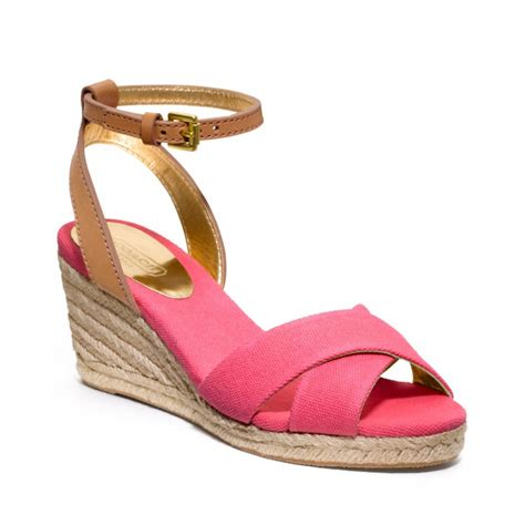 Sandal Wedges Wg14 Pink lyst coach henley wedge in pink