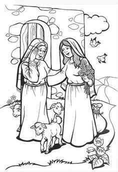 Coloring Page Zacharias And Elizabeth by Visits Elizabeth Coloring Pages Coloring Pages