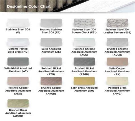 schluter colors schluter 174 designline tile border edging profile