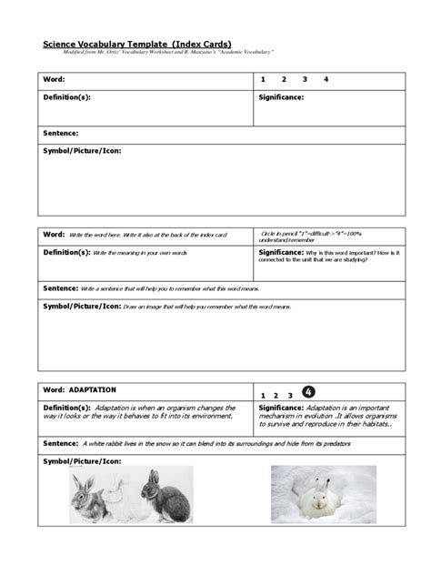 Vocabulary Index Cards Template by Index Card Template 4 Free Templates In Pdf Word Excel