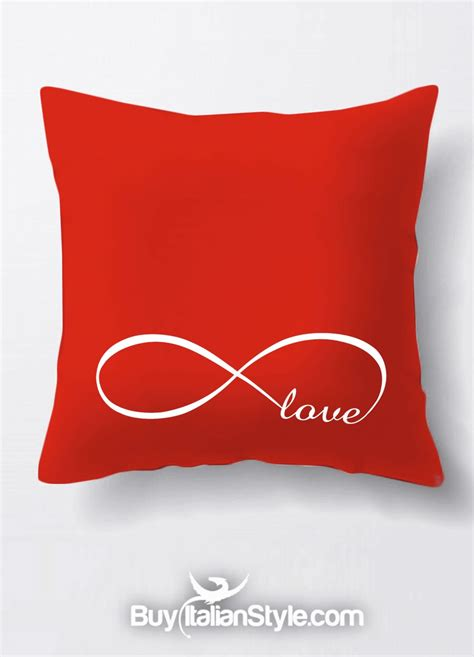 cuscino per san valentino federa per cuscino quot infinity quot infinito per