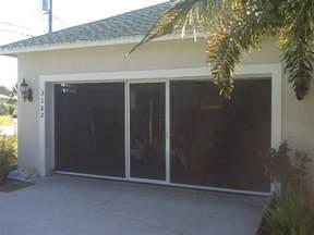 Garage Screen Door Breezy Living Garage Door Screens Florida