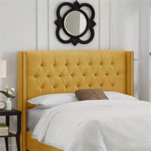buy tufted upholstered headboard size king color