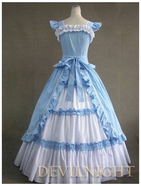 Vintage Blue And White Multi Layered Gothic  Ee  Victorian Ee