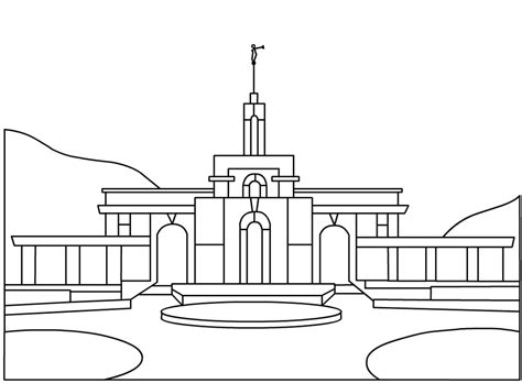 LDS Temple Coloring Page &amp Book sketch template