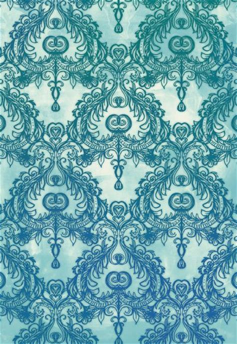 printed wallpapers vintage wallpaper pattern in cobalt blue emerald green