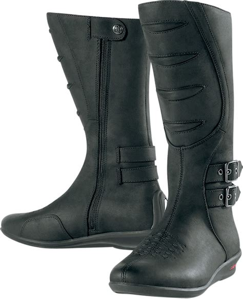 tall motorcycle riding boots icon women s sacred tall motorcycle boot black