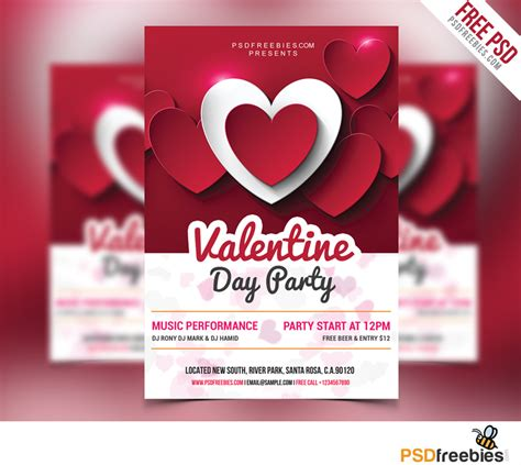 free valentines day flyer templates day flyer free psd psdfreebies