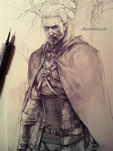 Witcher 3 Sketches by Geralt From The Witcher 3 By Aenaluck On Deviantart