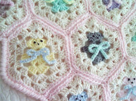 hexagon knitting pattern free crochet baby blanket hexagon teddy baby blanket afghan
