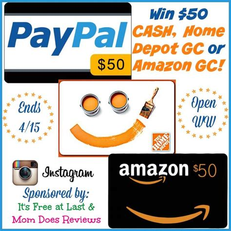 Home Depot Gift Card Help - spring time giveaway win 50 cash or home depot or amazon gc