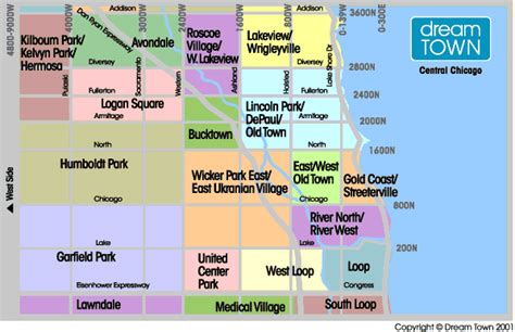 chicago northside neighborhood map central chicago neighborhood guide real estate listings
