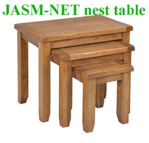 Jasm Furniture by China Solid Oak Nesting Table Nest Of Tables Wood