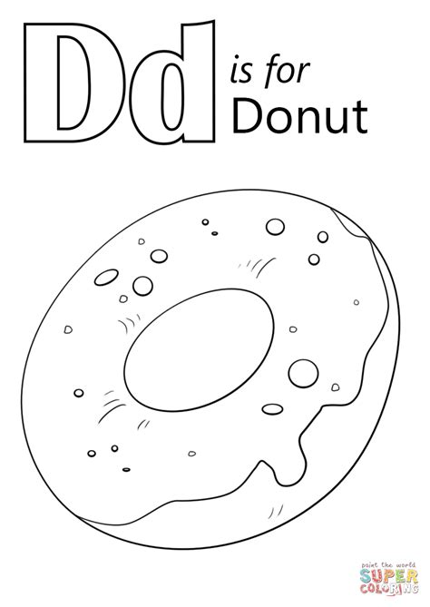 coloring page of a donut doghnut free colouring pages