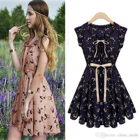 leaf pattern clothes elegant elf pattern plus size summer a line casual