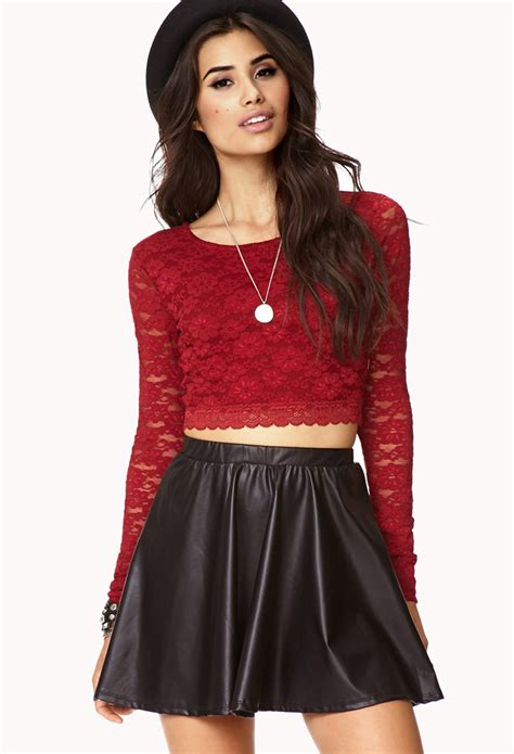 Lace Cropped Top crop tops forever 21 quotes