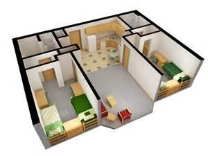 Homewood Suites 2 Bedroom Floor Plan by Niskanen Hall Residence Life Ndsu