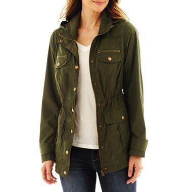 st. john's bay® packable anorak jacket jcpenney | anorak
