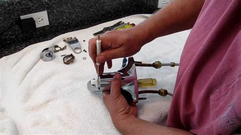 moen faucet 4600 cartridge removal youtube