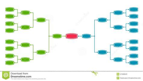 bracket tournament 16 stock vector image 57508043