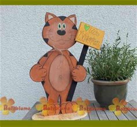 Katze Aus Holz by Bunte Katze Aus Holz Basteln Mit Holz