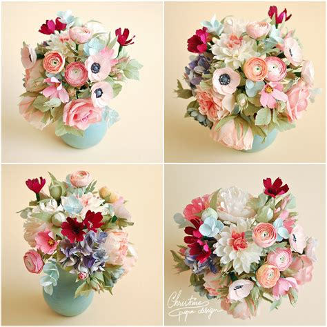 Wedding Flower Paper Centerpiece by Paper Flowers Centerpiece Christine Paper Design