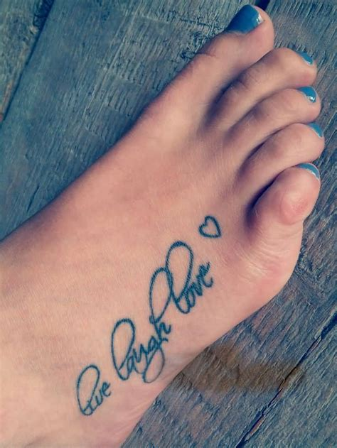 heart foot tattoos designs live laugh tattoos www pixshark images